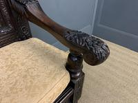 Good 19th Century Carved Oak Bench (9 of 15)