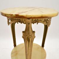 French Style Brass & Onyx Side Table (3 of 6)