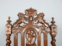 Rare Set of Eight 19th Century Hand Carved Dining Chairs (3 of 5)