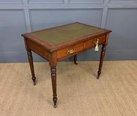 Victorian Walnut 2 Drawer Writing Table (5 of 15)
