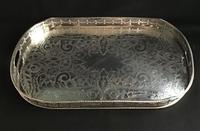 Large Silver Plated Gallery Tray (2 of 5)
