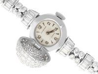 4.82ct Diamond Admina Cocktail Watch in Platinum - Art Deco - Vintage c.1940 (3 of 15)
