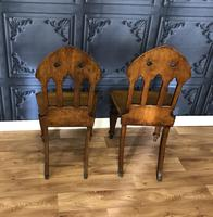 Pair of Victorian Gothic Style Hall Chairs (3 of 13)