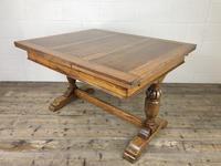 Early 20th Century Oak Draw Leaf Table (5 of 17)
