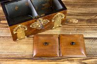 Figured Walnut & Brass Tea Caddy 1880 (11 of 12)