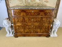 19th Century French Burr Walnut Commode with Marble Top (4 of 9)