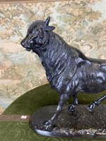 Bronze Sculpture of Bull Signed to the Base (2 of 5)