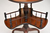 Antique Victorian Mahogany Occasional Table Bookstand (7 of 7)