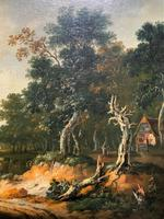 Exceptional Large 1700s Old Master Giltwood Landscape Oil on Canvas Painting (4 of 17)