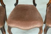 Set of 4 Rosewood Balloon Back Dining Chairs (7 of 12)