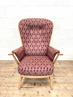 Vintage Ercol Evergreen Two Seater Sofa & Armchair (5 of 10)