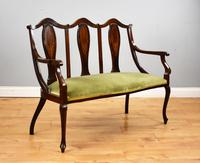 Victorian Mahogany & Inlaid Lounge Suite (2 of 23)