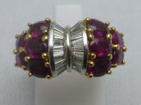 Ruby and diamond cocktail ring (2 of 4)