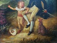 Lovely 18th Century Georgian Revival Gilt-Framed Oil on Panel Portrait Painting (5 of 8)