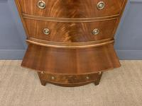 Flame Mahogany Bow Fronted Chest on Chest (8 of 14)