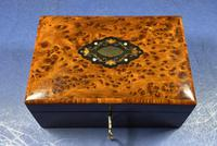 Victorian  French Burr Cedar Jewellery Box with It's Original Interior (6 of 13)