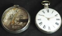 Antique Silver Pair Case Pocket Watch Fusee Verge Escapement Key Wind Enamel P Edmonds Liverpool (7 of 10)