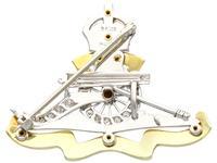 0.59ct Diamond & Enamel, 14ct Yellow Gold & Platinum Sweetheart Brooch c.1930 (5 of 9)