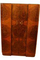 Stunning Epstein Art Deco Amboyna And Walnut Tall Boy Linen Chest (3 of 11)