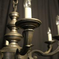 French Silver Gilded 8 Light Antique Chandelier (6 of 6)