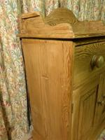 Vintage Stripped Pine Cupboard with Shaped Back (4 of 8)