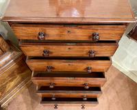 Early 19th Century Solid Mahogany Tall Chest of Drawers by Heal & Son (3 of 6)