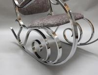 French Mid-Century Chrome Rocking Chair by Maison Jansen (5 of 7)