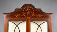 Antique English Edwardian Mahogany Display Cabinet (2 of 8)