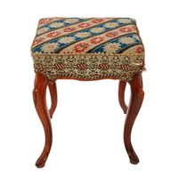 Square Victorian Rosewood Stool (2 of 6)