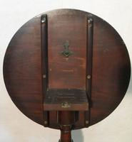 English Georgian Figured Mahogany Tilt Top Tripod Table (7 of 7)