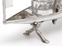 Unusual Victorian Silver Plate Novelty Rowing Boat Cruet Set (3 of 5)