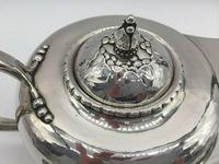 Rare Early Georg Jensen Silver Tea Set Leaf & Berry 181 1924 (5 of 10)
