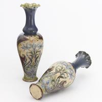 Pair of Tall Doulton Lambeth Art Nouveau Baluster Vases by Eliza Simmance c.1895 (9 of 12)