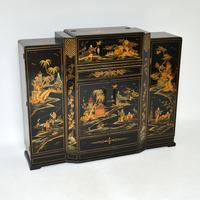 Art Deco Lacquered Chinoiserie Drinks Cabinet / Sideboard (2 of 16)