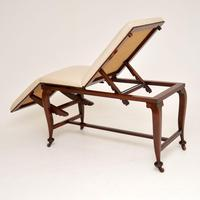 Antique Victorian  Doctors  Bed / Chaise Longue (12 of 12)
