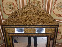 Antique French Cushion Mirror Metal Mounts Circa 1880 (4 of 11)