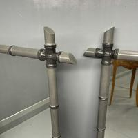 Pair of Two Tone Grey Bamboo Mirrors (3 of 7)