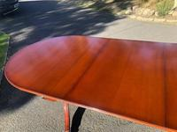 Quality Mahogany Twill Pillar Extending Dining Table (15 of 15)