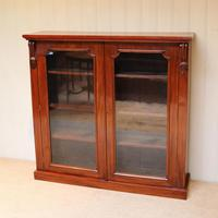 Late 19th Century Glazed Two Door Bookcase (4 of 7)