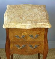 Antique Pair of French Bedside Cabinets Marble Top (3 of 6)
