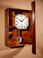 Art Deco Westminster Vedette Carillon Oak Wall Clock French c.1935 (11 of 13)