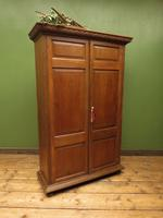 Antique Oak Linen Cupboard, Housekeepers Cupboard Larder with Shelves (11 of 16)