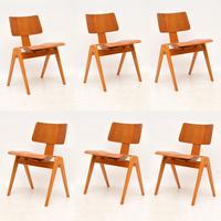 1950's Set of 6 Robin Day Hillestak Dining Chairs for Hille