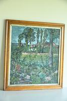 Early 20th Century British School A Town Garden Oil on Board (2 of 9)