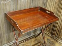 Mahogany Butlers Tray on Stand (4 of 6)