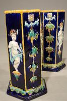 Very Rare Pair of Late 19th Century Majolica Stick Stands (4 of 5)