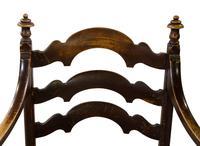 Pair of Ebonised Oak Elbow Chairs (10 of 12)