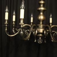 French Silver Plated 8 Light Mid 20th Century Chandelier (2 of 10)