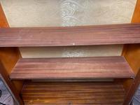 Art Deco Walnut Curved Bookcase Display Storage Cabinet (29 of 29)