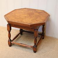 Small Oak Parquetry Top Table (3 of 10)